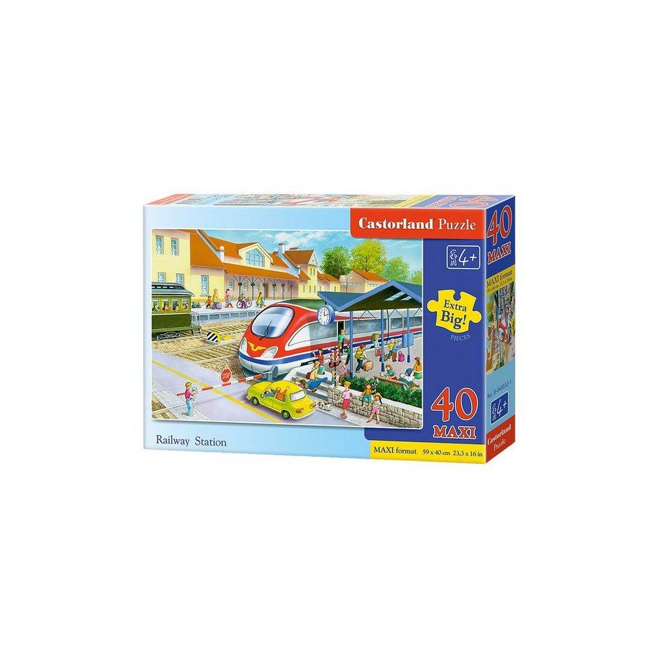 Castorland Bodenpuzzle 40 Teile Maxi - Bahnhof