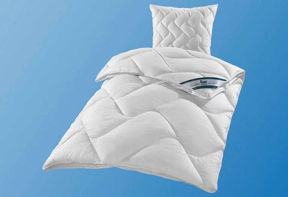 Set: Kunstfaserbettdecken + Kopfkissen, f.a.n. »DACRON® 95° C«, 4-Jahreszeiten
