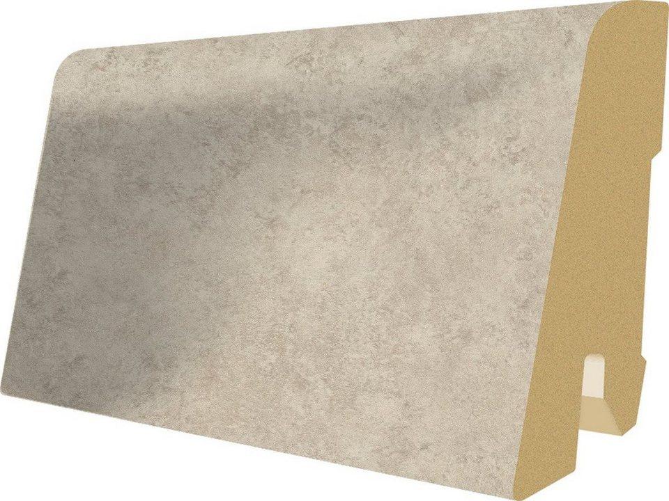 Sockelleisten passend zum Laminat »Megafloor M2 Kingsize«, Ceramic kreide Nachbildung in grau