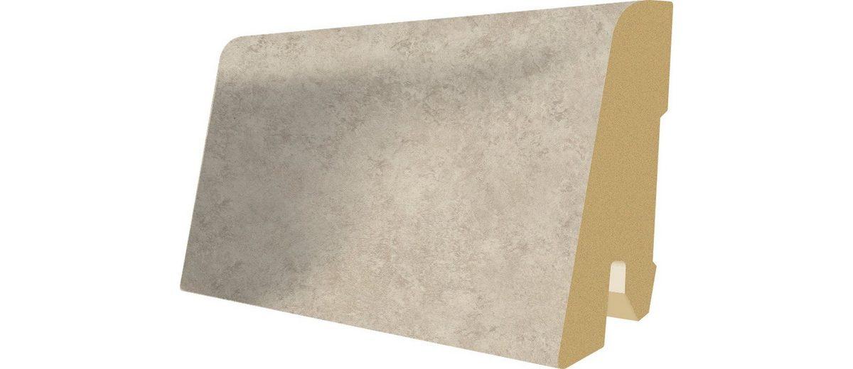 Sockelleisten passend zum Laminat »Megafloor M2 Kingsize«, Ceramic kreide Nachbildung