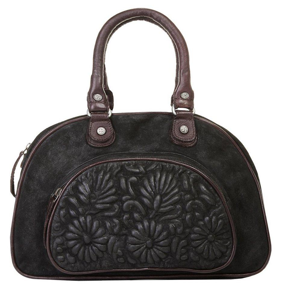 Taschendieb Wien Leder Damen Handtasche in schwarz