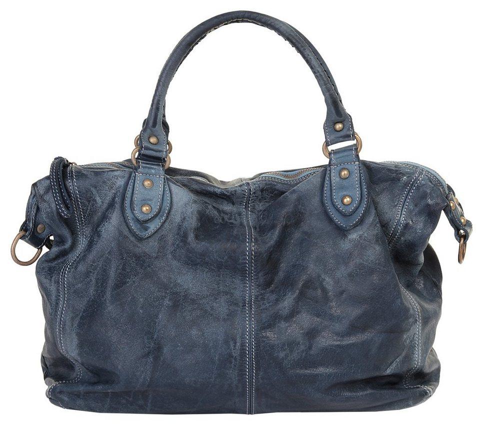 Forty degrees Leder Damen Handtasche in blau