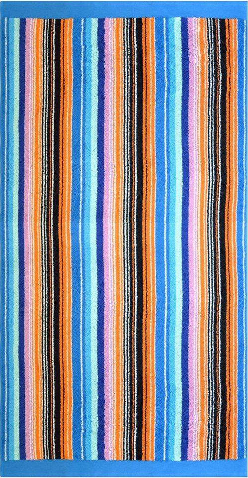 Strandtuch, Dyckhoff, »Leuchtstreifen«, leuchtende Farbe in multi