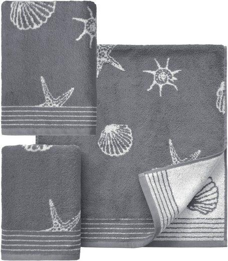 Dyckhoff Handtuch Set »Seashell«, mit Muschelmuster