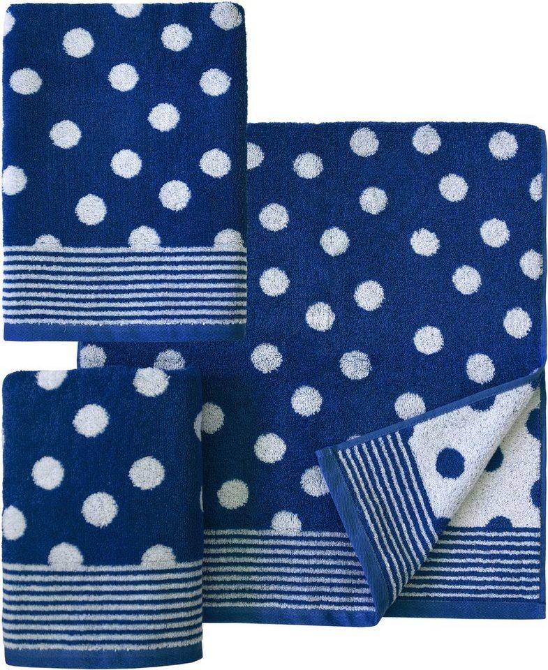 handtuch set dyckhoff dots mit punkten kaufen otto. Black Bedroom Furniture Sets. Home Design Ideas