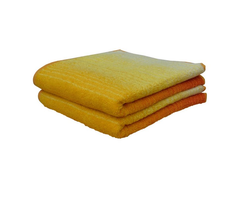 Handtücher, Dyckhoff, »Colori«, mit Farbverlauf in gelb