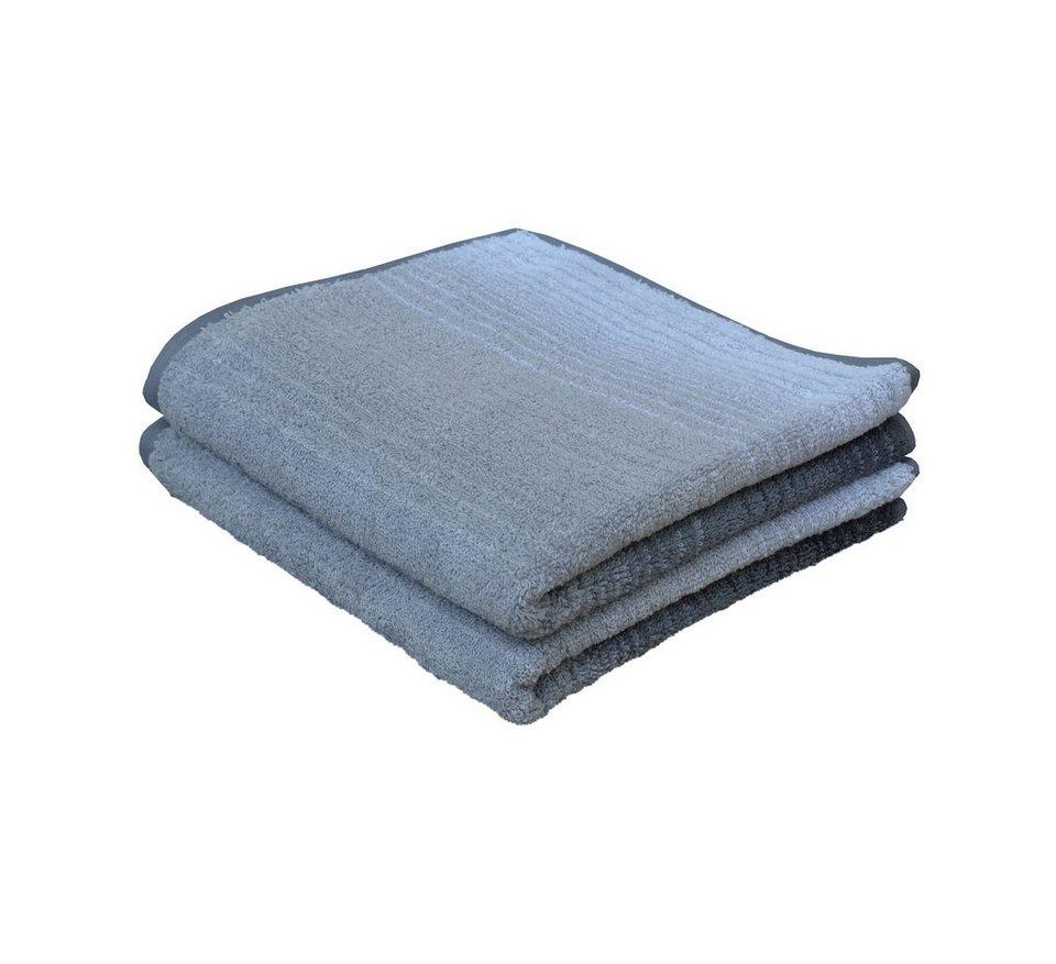 Handtücher, Dyckhoff, »Colori«, mit Farbverlauf in grau