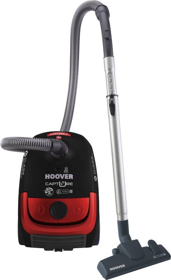 Hoover Bodenstaubsauger mit Staubbeutel Capture CP71_CP41 in schwarz / rot