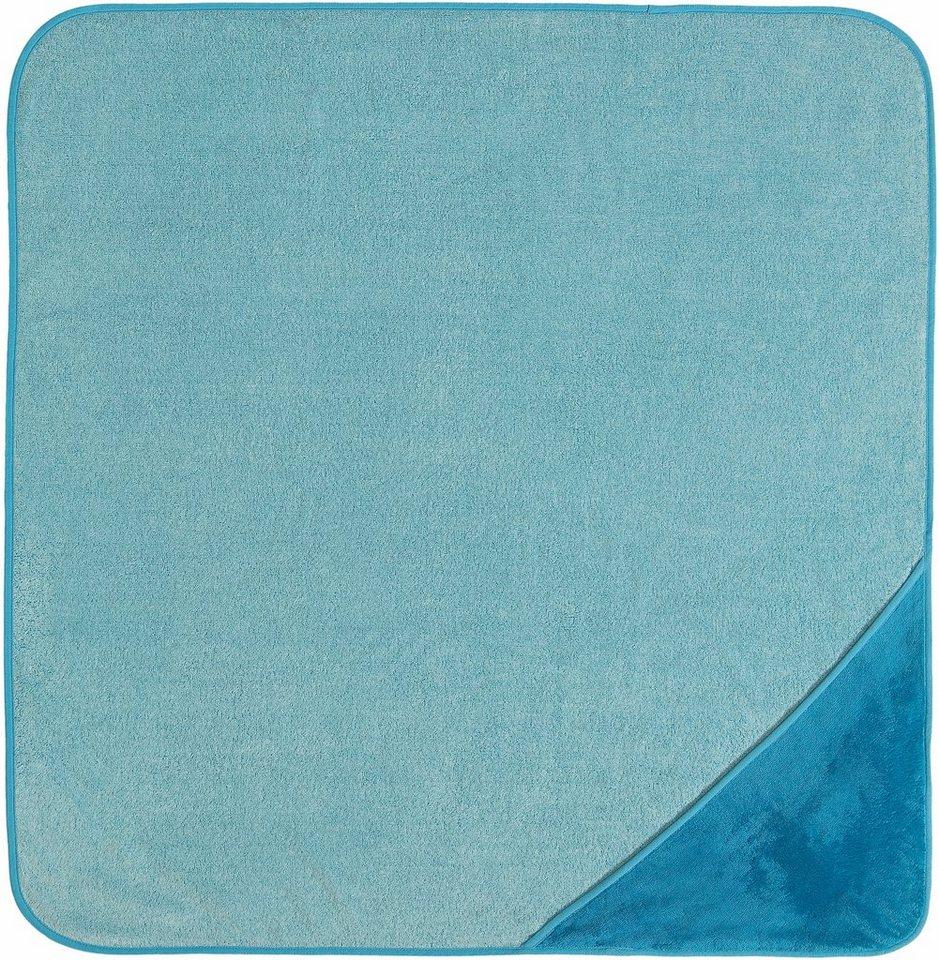 Kapuzenhandtuch, Vossen, »Bixie«, saugfähige Qualität in blau