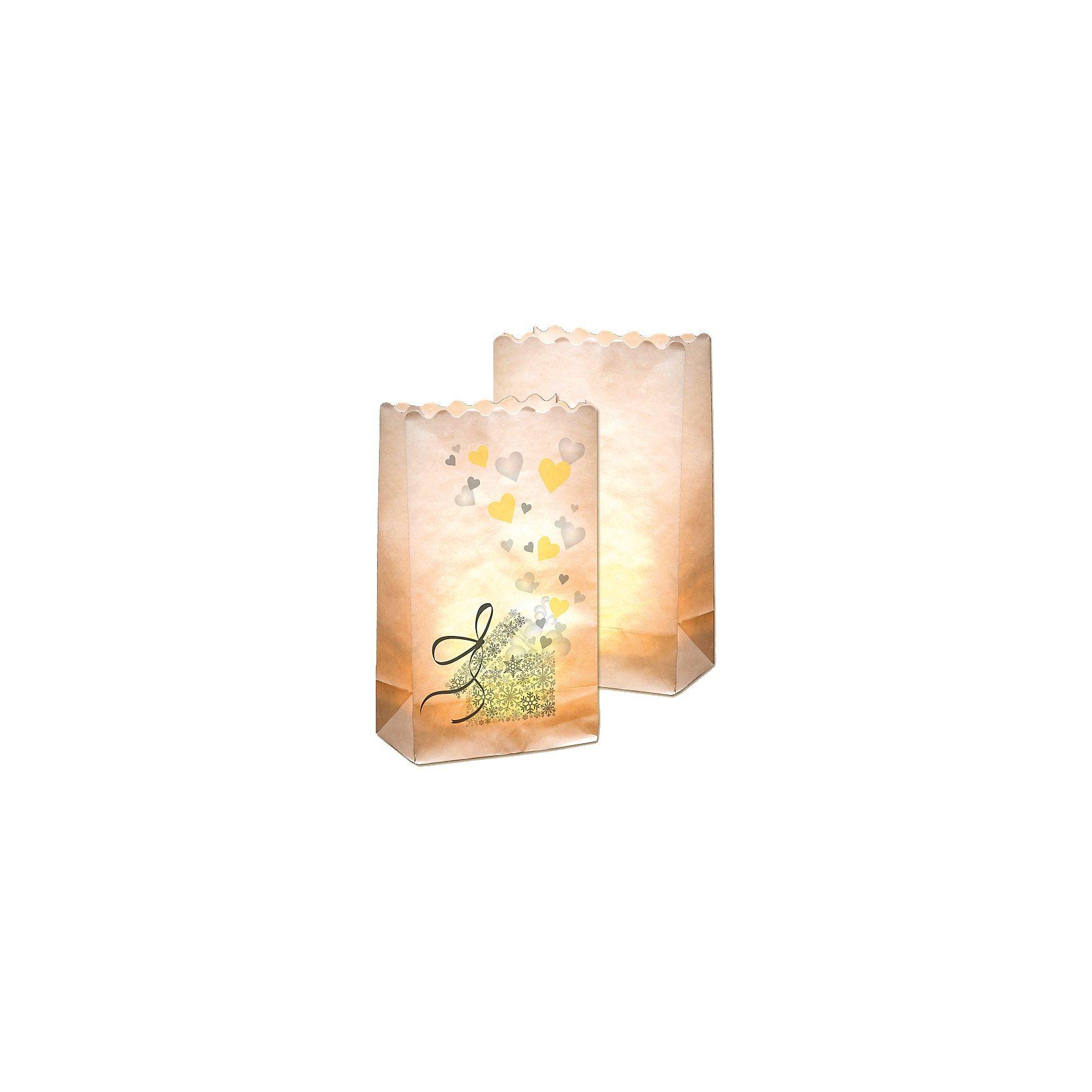 Folia Lichtertüten aus Papier Motiv Geschenk, 10 Stück