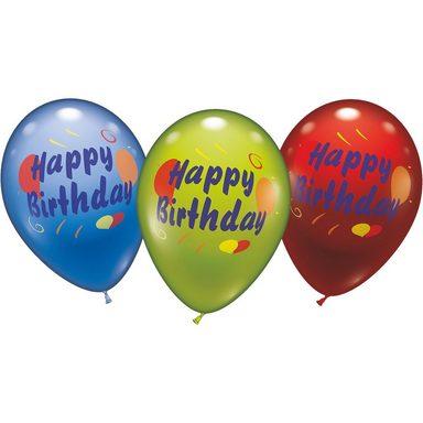 karaloon luftballons happy birthday 6 st ck otto. Black Bedroom Furniture Sets. Home Design Ideas