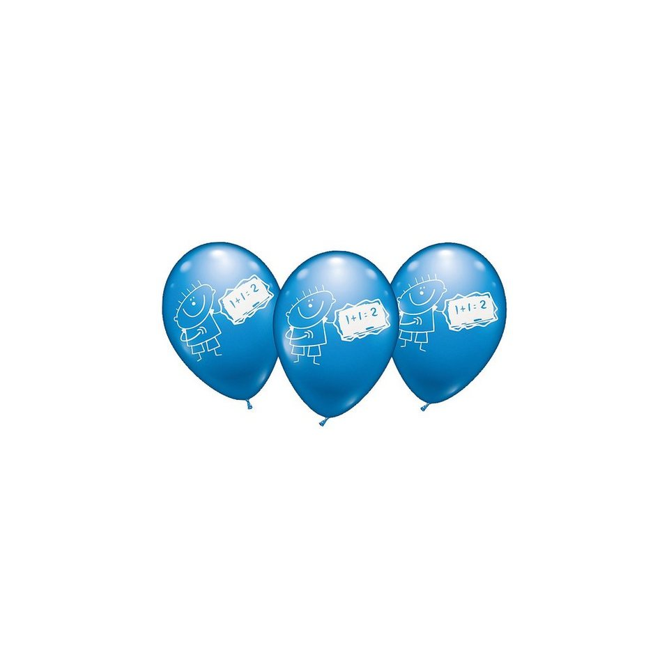 karaloon luftballons schule boys 6 st ck kaufen otto. Black Bedroom Furniture Sets. Home Design Ideas