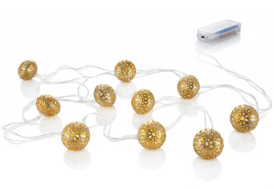 LED Lichterkette in goldfarben