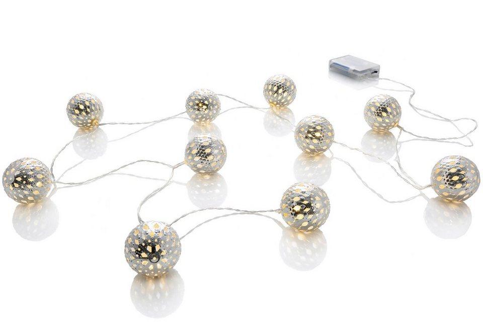 LED Lichterkette in silberfarben