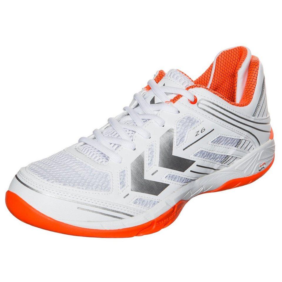 HUMMEL TEAMSPORT Omnicourt Z6 Handballschuh Herren in weiß / orange