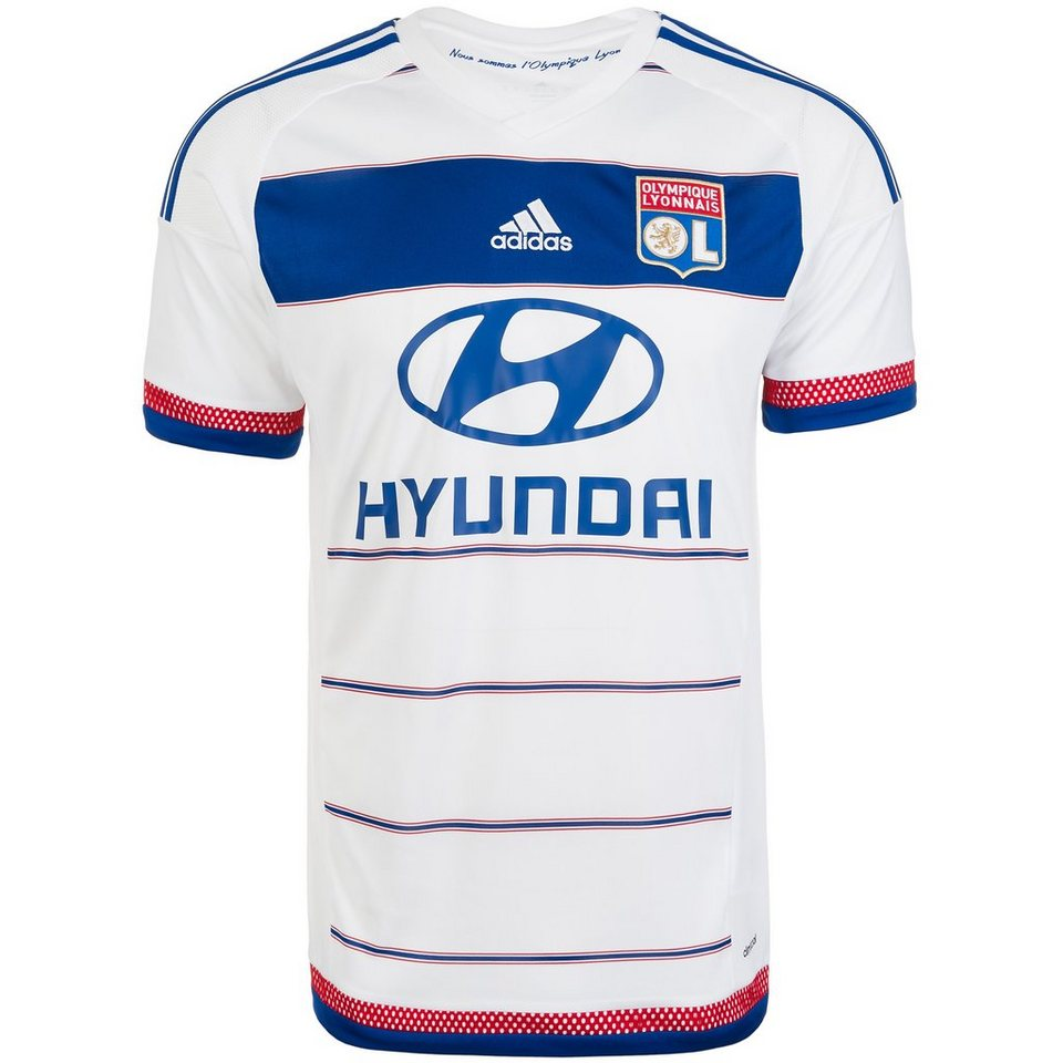 adidas Performance Olympique Lyon Trikot Home 2015/2016 Herren in weiß / blau / rot