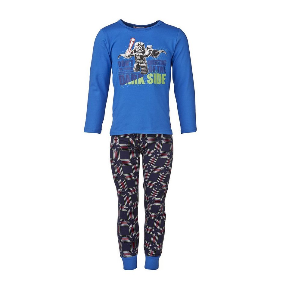 "LEGO Wear STAR WARS(TM) NIGHTWEAR Schlafanzug ""Dark Side"" Nachtwäsche Pyja in blau"