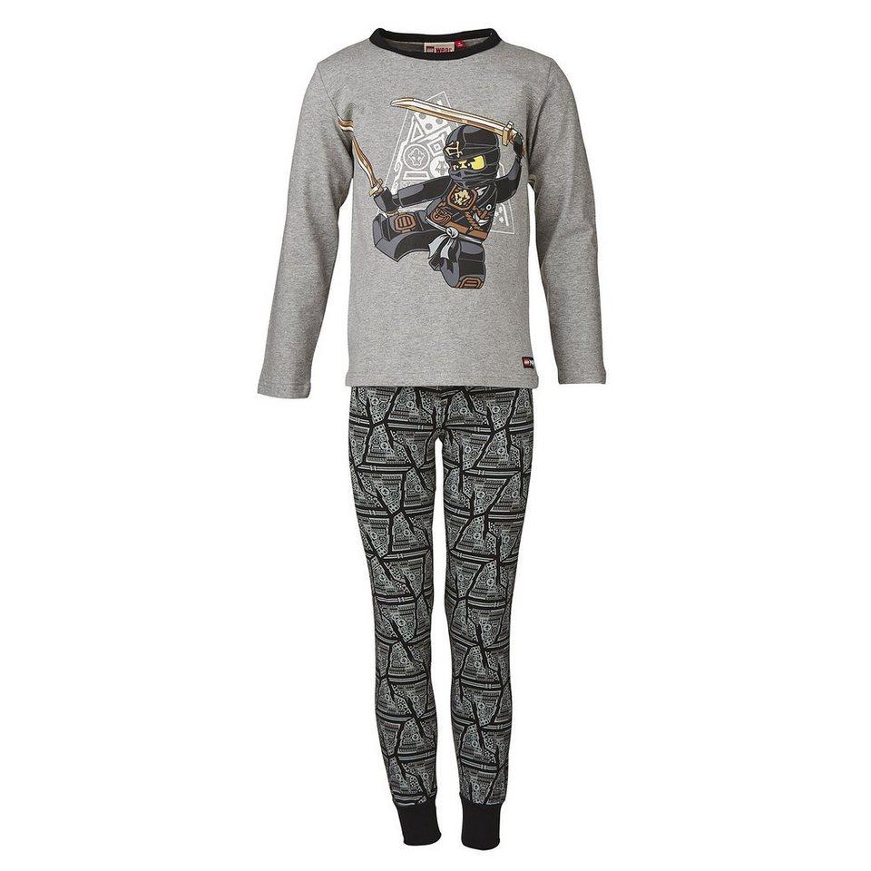 "LEGO Wear Ninjago NIGHTWEAR Schlafanzug ""Ninja"" Nachtwäsche Pyjama in schwarz"