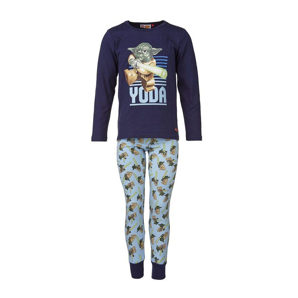 "LEGO Wear STAR WARS(TM) NIGHTWEAR Schlafanzug ""Yoda"" Nachtwäsche Pyjama G in blau"
