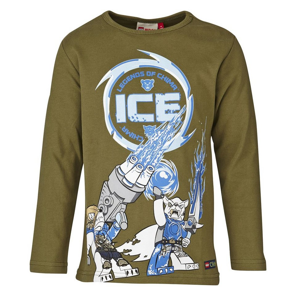 "LEGO Wear Legends of Chima Langarm-T-Shirt Timmy ""ICE"" langarm Shirt in olivgrün"