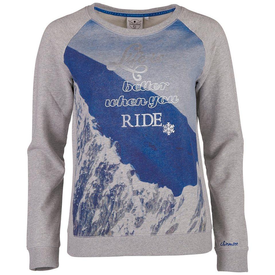 Chiemsee Damen Sweatshirt »KADIA« in light grey