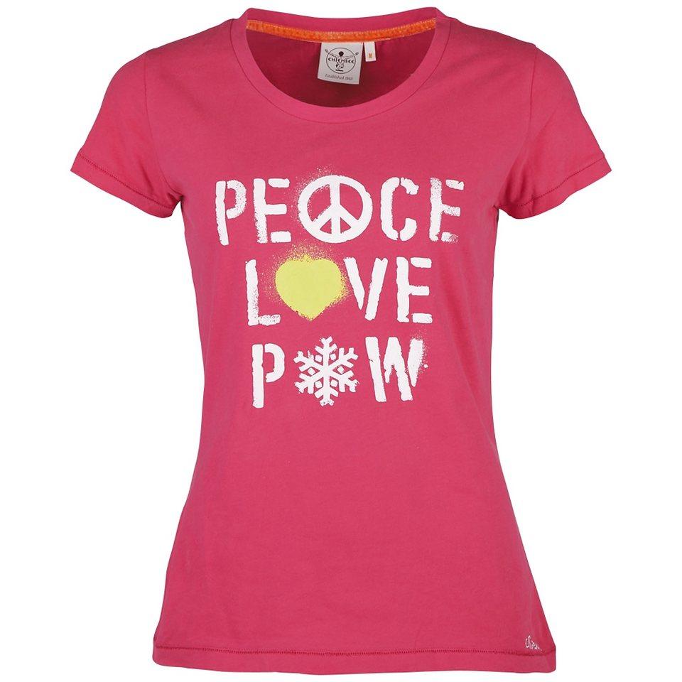 Chiemsee Damen T-Shirt »KAHUNA« in pink flambe