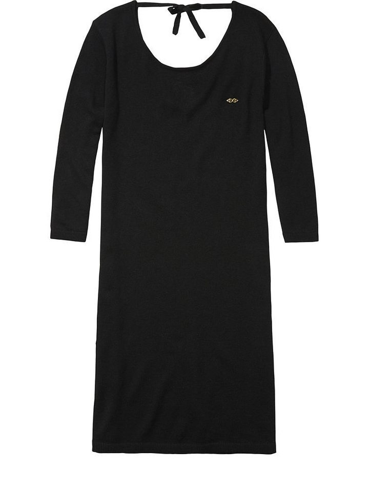 Maison Scotch Kleid »Knitted dress with sexy low back and lac« in schwarz