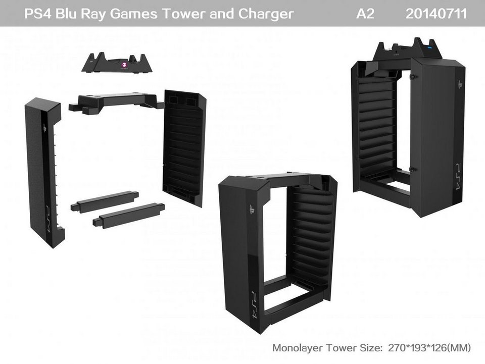 snakebyte games tower charger ps4 kaufen otto. Black Bedroom Furniture Sets. Home Design Ideas