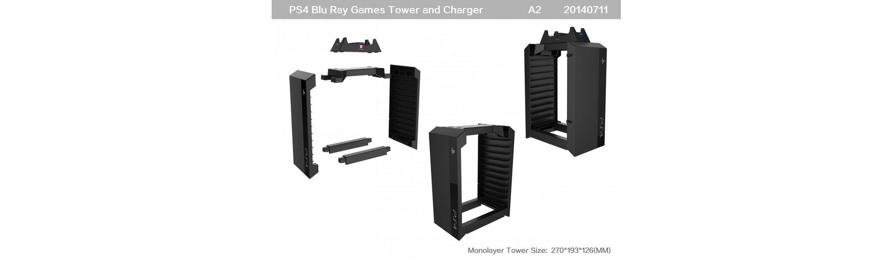 Snakebyte Games Tower + Charger »(PS4)«