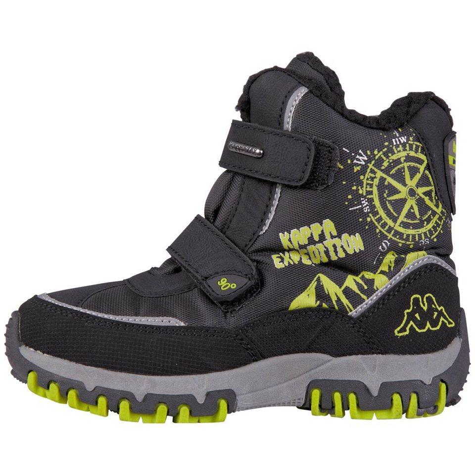 KAPPA Schuhe »DENTON II TEX KIDS« in black/lime