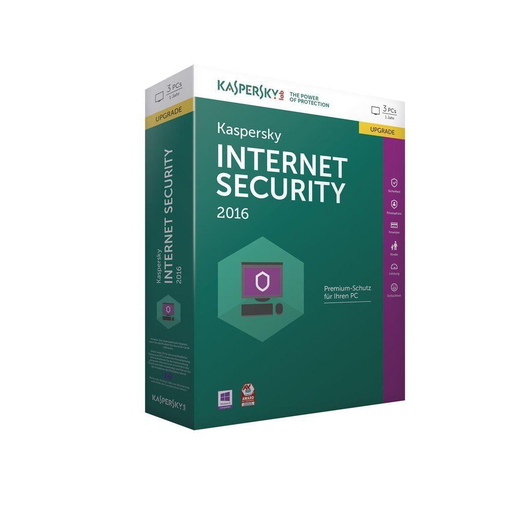 Kaspersky PC - Spiel »Kaspersky Internet Security 2016 3 Liz. Upgrade«