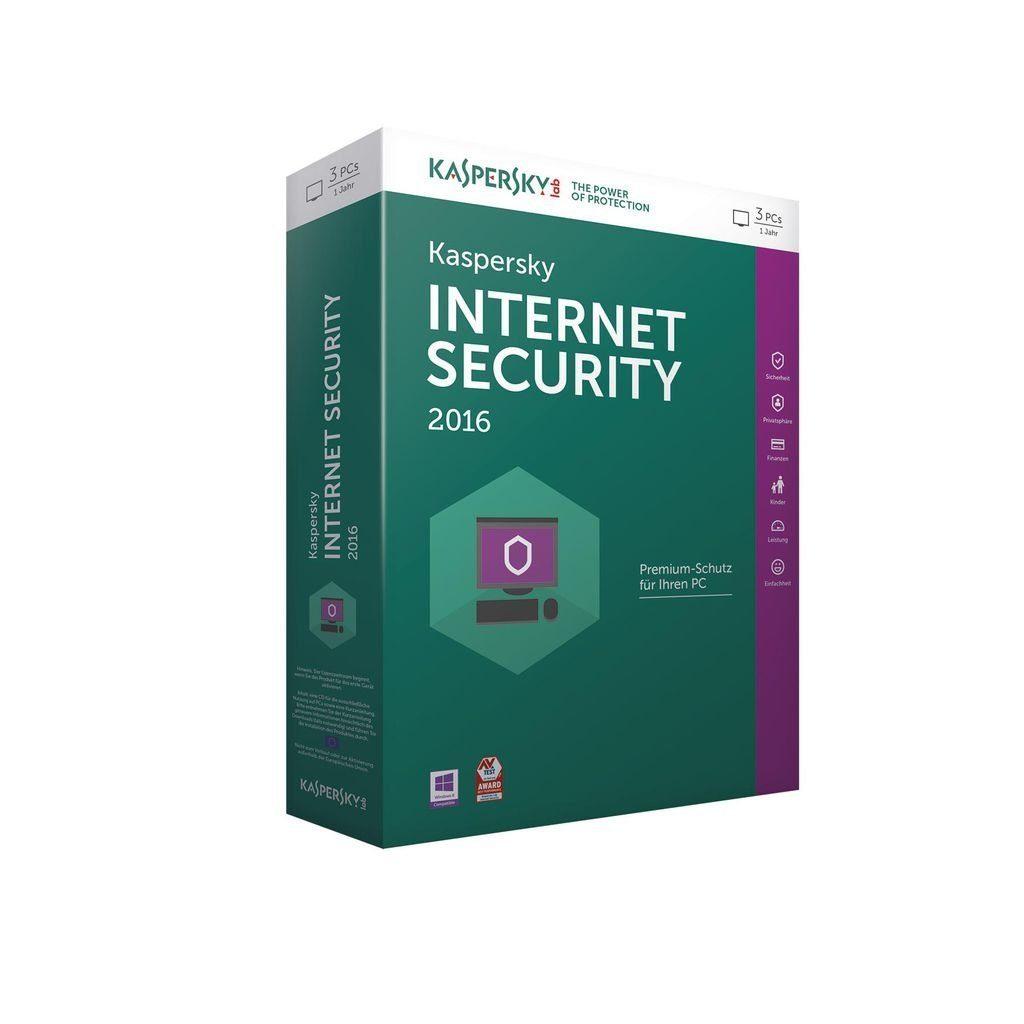 Kaspersky PC - Spiel »Kaspersky Internet Security 2016 3 Lizenzen«