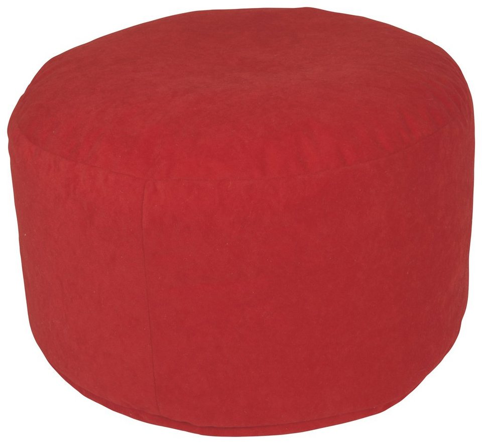 Home affaire Pouf in rot