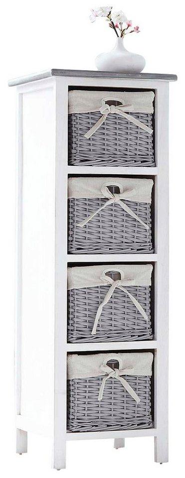 Home affaire Regal »Hedi mit 4 Körben« in weiß