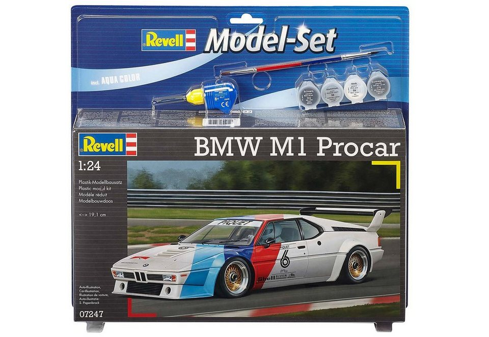 Revell® Modellbausatz Auto mit Zubehör, Maßstab 1:24, »Model Set - BMW M1 Procar«