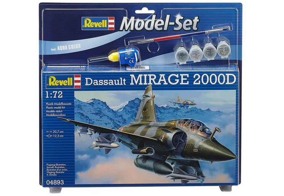 Revell® Modellbausatz Flugzeug mit Zubehör, Maßstab 1:72, »Model Set - Mirage 2000D« in grün