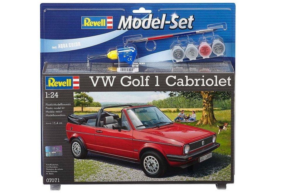 Revell® Modellbausatz Auto mit Zubehör, Maßstab 1:24, »Model Set - VW Golf 1 Cabrio« in rot