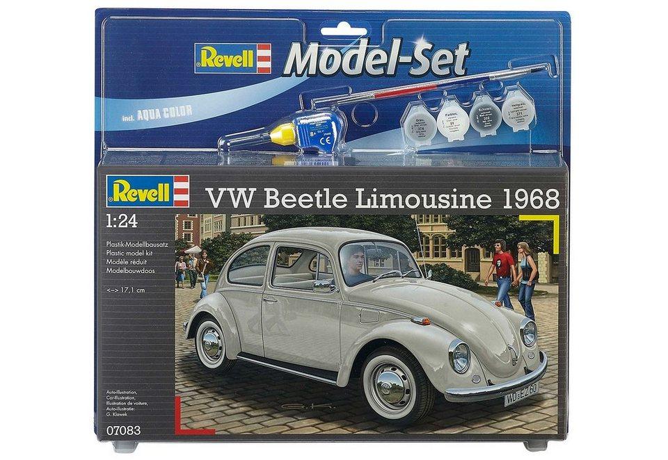 Revell® Modelbausatz Auto mit Zubehör, Maßstab 1:24,  VW Beetle Limousine 68  online kaufen