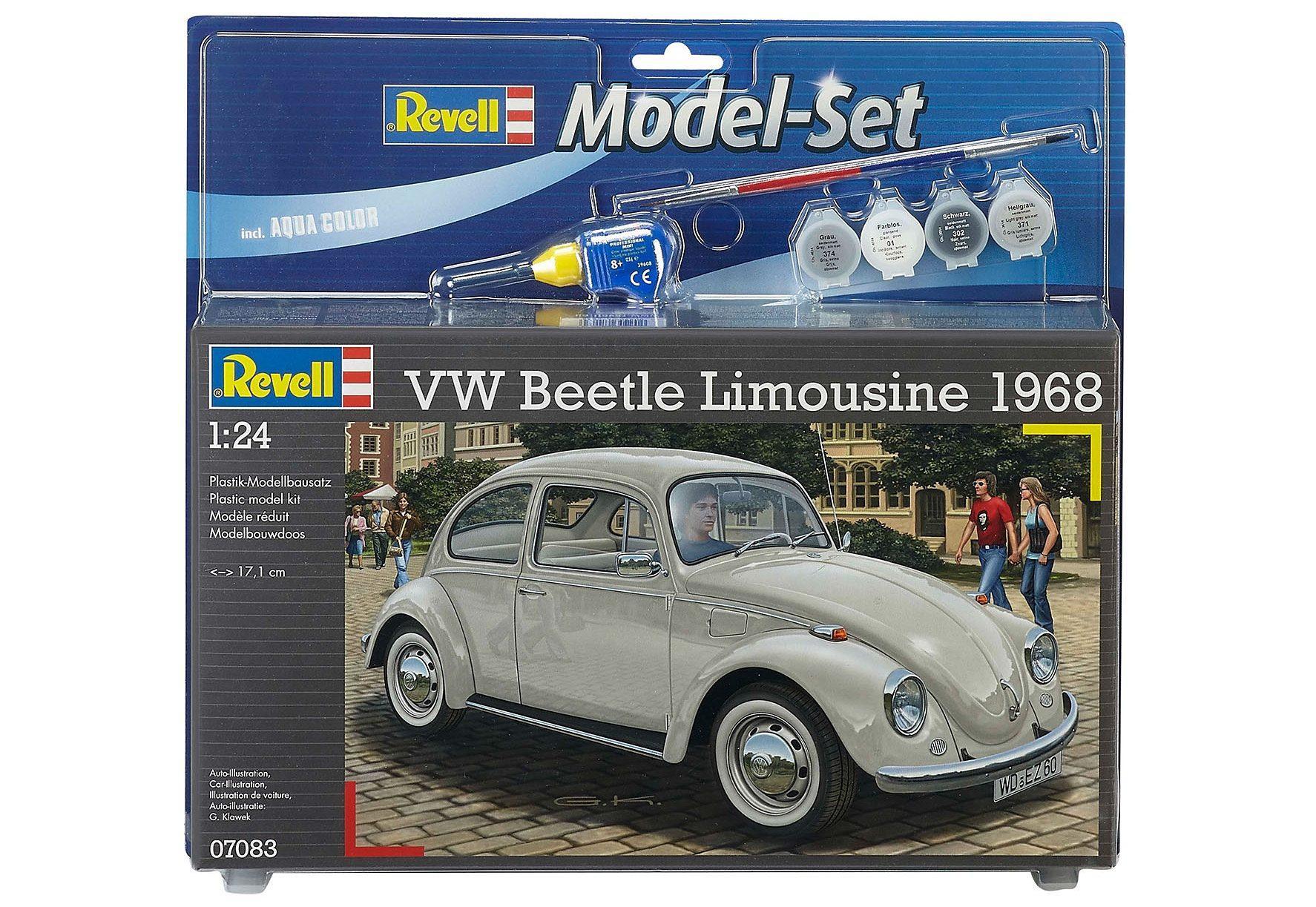 Revell® Modelbausatz Auto mit Zubehör, Maßstab 1:24, »VW Beetle Limousine 68«