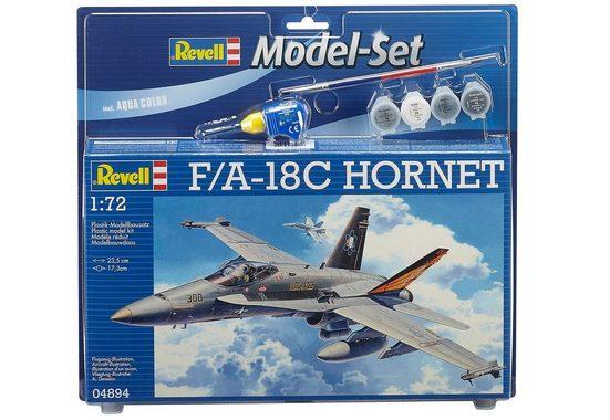 Revell® Modellbausatz »Model Set - F/A-18C Hornet«, Maßstab 1:72, (Set)