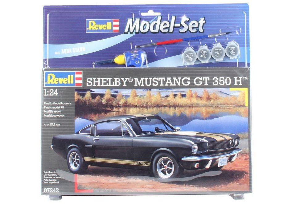 Revell Modellbausatz Auto mit Zubehör, Maßstab 1:24, »Shelby Mustang GT 350 H« in schwarz/gold