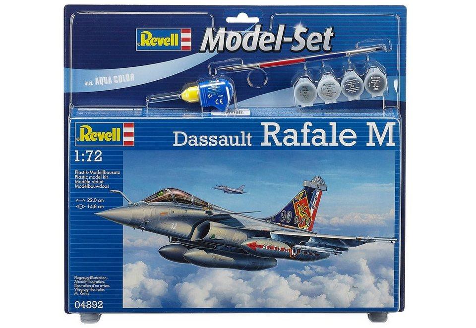Revell® Modellbausatz Flugzeug mit Zubehör, Maßstab 1:72, »Model Set - Dassault Rafale M«