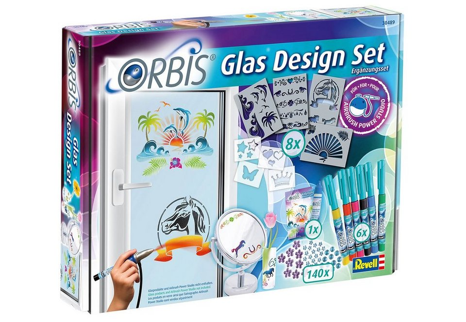 Revell® Airbrush Kreativ-Set, »Orbis Glas Design Set« in bunt