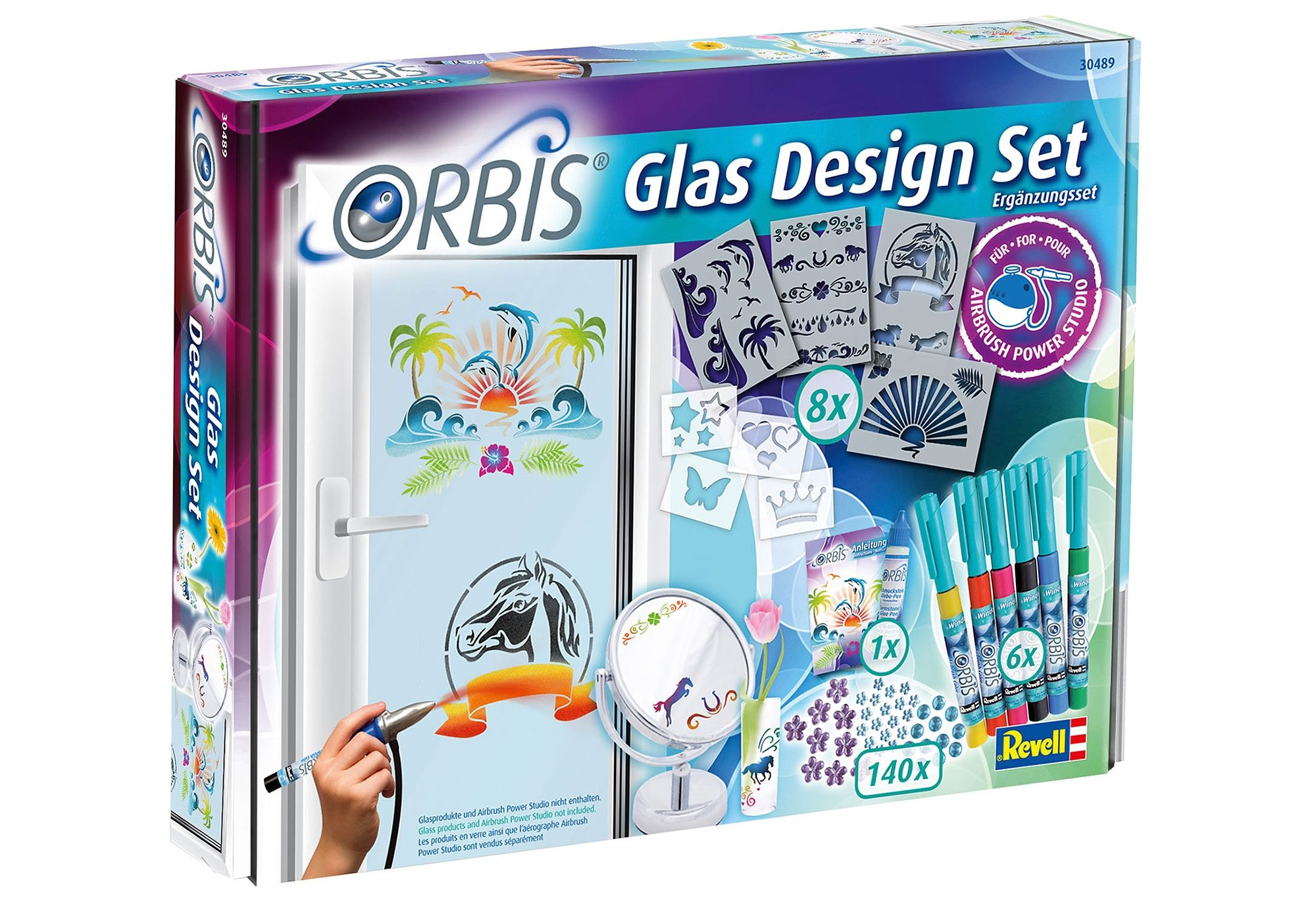 Revell® Airbrush Kreativ-Set, »Orbis Glas Design Set«