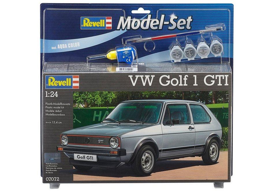 revell modellbausatz mit zubeh r ma stab 1 24 model set vw golf 1 gti online kaufen otto. Black Bedroom Furniture Sets. Home Design Ideas