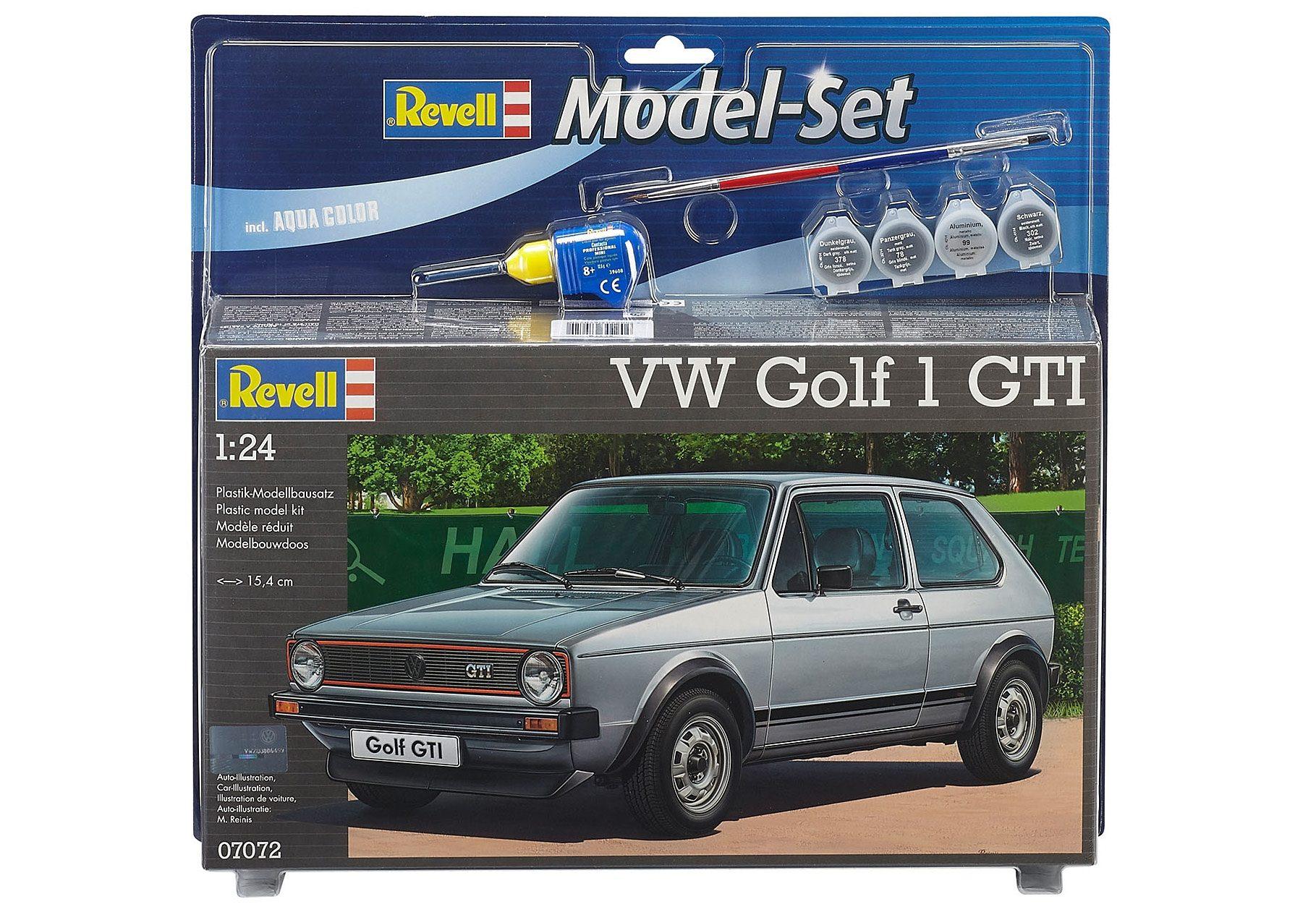 Revell® Modellbausatz mit Zubehör, Maßstab 1:24, »Model-Set VW Golf 1 GTI«
