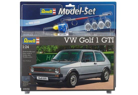 Revell® Modellbausatz »Model-Set VW Golf 1 GTI«, Maßstab 1:24, (Set), Made in Europe