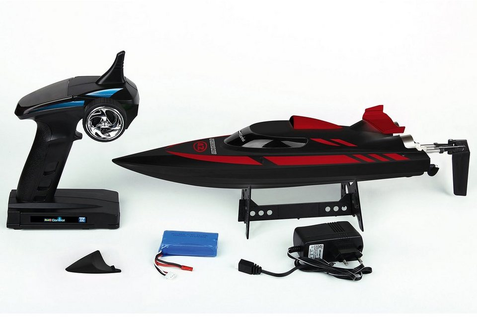 Revell® RC Boot, »Revell® Control RC Speed Boat Maxi« in schwarz/rot