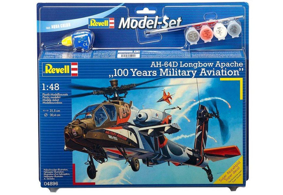 Revell® Modellbausatz Hubschrauber »AH-64D Apache 100-Yrs. Military Aviation«, 1:48 in braun
