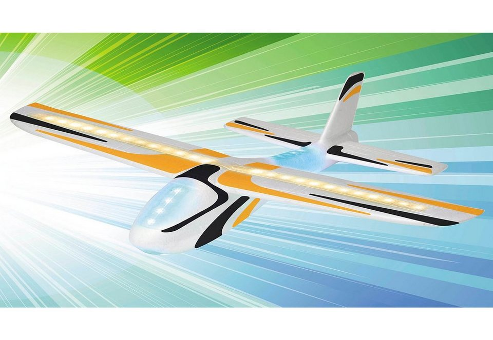 Revell® Modellbausatz Wurfgleiter, »Play 'N' Action LED Glider Flying Lights« in weiß